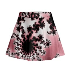 Fractal Pattern Pink Mini Flare Skirt