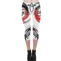 Abstract Fractal Digital Art Capri Leggings