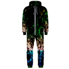 Wallpaper Fractal Lines Abstract Hooded Jumpsuit (men)