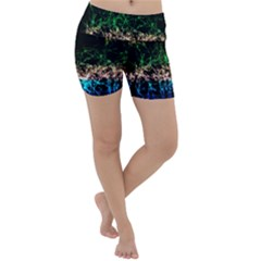 Wallpaper Fractal Lines Abstract Lightweight Velour Yoga Shorts