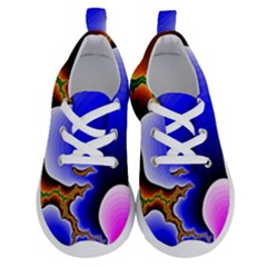 Fractal Background Pattern Color Running Shoes