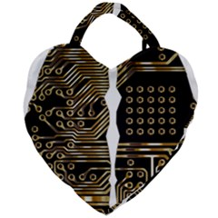 Brain Circuit Board Pcb Computer Giant Heart Shaped Tote