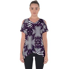 Background Texture Pattern Cut Out Side Drop Tee