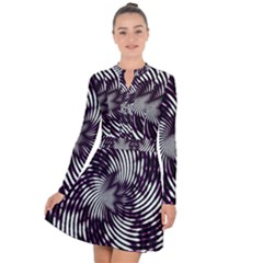 Background Texture Pattern Long Sleeve Panel Dress