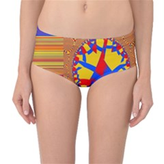 Graphic Design Graphic Design Mid Waist Bikini Bottoms by Wegoenart