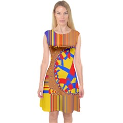 Graphic Design Graphic Design Capsleeve Midi Dress