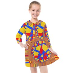 Graphic Design Graphic Design Kids  Quarter Sleeve Shirt Dress