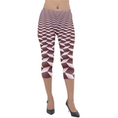 Graphics Geometric Paul Background Lightweight Velour Capri Leggings