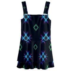 Background Abstract Vector Fractal Kids  Layered Skirt Swimsuit