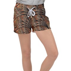 Fractals Artistic Digital Design Women s Velour Lounge Shorts