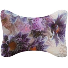 Flower Digital Art Artwork Abstract Seat Head Rest Cushion by Wegoenart