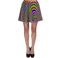Fractal Background Pattern Color Skater Skirt