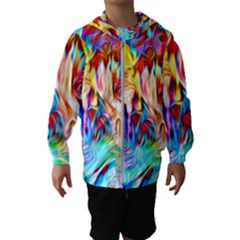 Background Drips Fluid Colorful Hooded Windbreaker (kids)