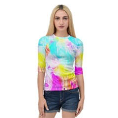 Background Drips Fluid Colorful Pattern Quarter Sleeve Raglan Tee by Wegoenart