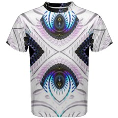 Patterns Fractal Background Digital Men s Cotton Tee