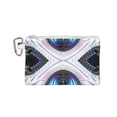 Patterns Fractal Background Digital Canvas Cosmetic Bag (small)