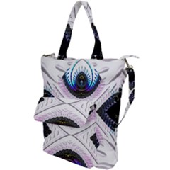 Patterns Fractal Background Digital Shoulder Tote Bag
