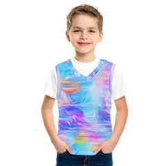 Background Drips Fluid Colorful Kids  Sportswear