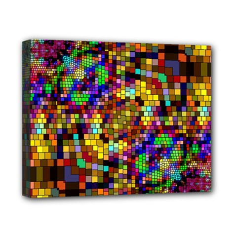Color Mosaic Background Wall Canvas 10  X 8  (stretched)