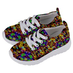 Color Mosaic Background Wall Kids  Lightweight Sports Shoes by Wegoenart