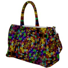 Color Mosaic Background Wall Duffel Travel Bag by Wegoenart