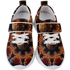 Fractal Space Fantasy Kids  Velcro Strap Shoes by Wegoenart