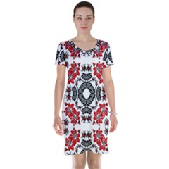 Ornament Seamless Pattern Element Short Sleeve Nightdress