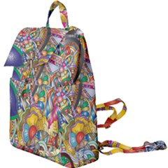 Floral Flourish Hearts Love Buckle Everyday Backpack by Wegoenart