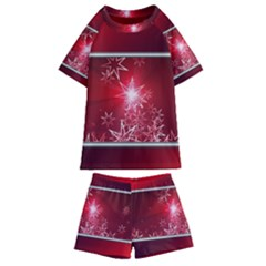 Christmas Candles Kids  Swim Tee And Shorts Set by Wegoenart