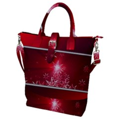 Christmas Candles Buckle Top Tote Bag