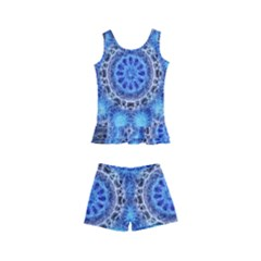 Fractal Mandala Abstract Kids  Boyleg Swimsuit