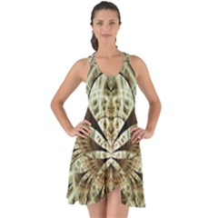 Pattern Nature Desktop Fractals Show Some Back Chiffon Dress by Wegoenart