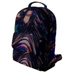 Pattern Texture Fractal Colorful Flap Pocket Backpack (small)
