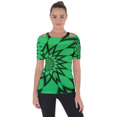 The Fourth Dimension Fractal Shoulder Cut Out Short Sleeve Top