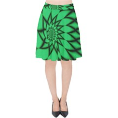 The Fourth Dimension Fractal Velvet High Waist Skirt