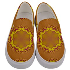 Abstract Fractal Pattern Washed Out Men s Canvas Slip Ons