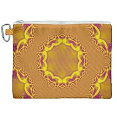 Abstract Fractal Pattern Washed Out Canvas Cosmetic Bag (xxl)