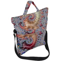 Fractal Artwork Design Pattern Fold Over Handle Tote Bag