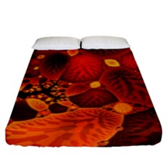 Leaf Autumn Nature Background Fitted Sheet (king Size)