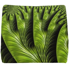 Fractal Background Abstract Green Seat Cushion
