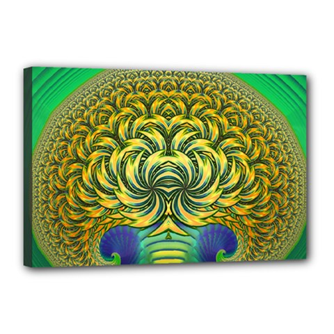 Fractal Tree Abstract Fractal Art Canvas 18  X 12  (stretched) by Wegoenart
