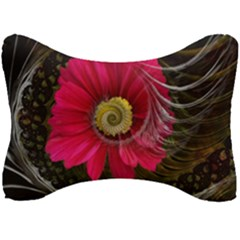 Fantasy Flower Fractal Blossom Seat Head Rest Cushion by Wegoenart