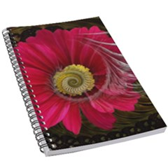 Fantasy Flower Fractal Blossom 5 5  X 8 5  Notebook by Wegoenart