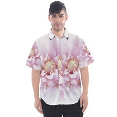 Abstract Transparent Image Flower Men s Short Sleeve Shirt by Wegoenart