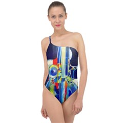 Twilight Bass No  2 Classic One Shoulder Swimsuit by Azure