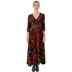 Dance  Of The  Forest 1 Button Up Boho Maxi Dress