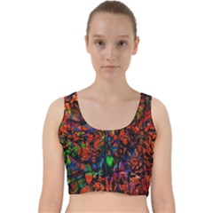 Dance  Of The  Forest 1 Velvet Racer Back Crop Top