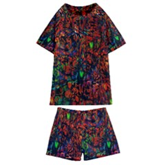 Dance  Of The  Forest 1 Kids  Swim Tee And Shorts Set