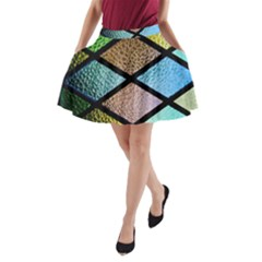 Stained Glass Soul A Line Pocket Skirt