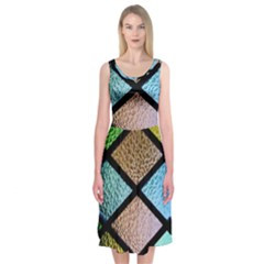 Stained Glass Soul Midi Sleeveless Dress by WensdaiAddamns
